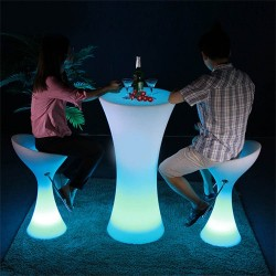 Table bar lumineuse