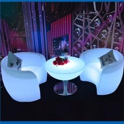Table et fauteuil lumineux